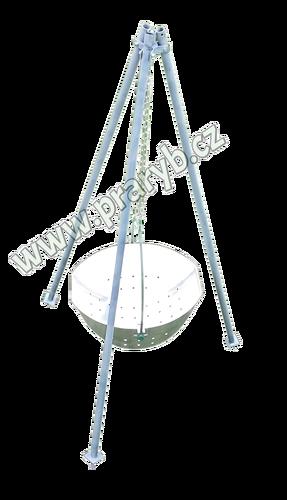 Trojnožka k váze kovová kompletní, délka 3,2 m