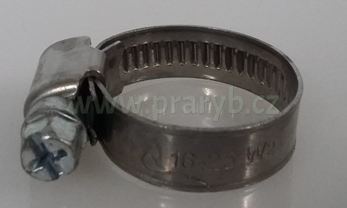 Spona nerez na hadici W2 16-25mm