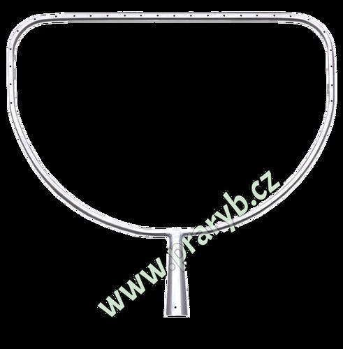 Půloblouk na sak do koše (rám) - malá přívlač, nerezový obvod 190 cm, dolní hrana 63 cm