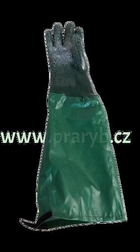 Rukavice dlouhé 65 cm PVC s textilní vložkou zdrsněné