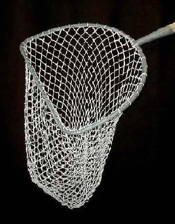 Sak do koše (malá přívlač) nerezový rám výplet ruční oka 30/2 mm hloubka 100 cm - rám obvod 1,9 m, dolní hrana 63 cm