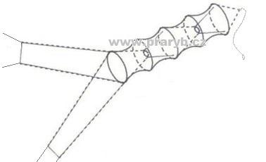 Vězenec síťový průměr 1,2 m délka 8 m oka 20 mm se 2 křídly 10 m dlouhými (vrš) - síla šňůrky 1,2 mm