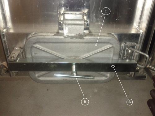 Šroub k závoře víka hliníkové přepravní bedny na ryby - B, náhradní díl