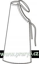 Zástěra pogumovaná bílá s lemem