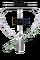 Půloblouk na keser nerez s rovnou tulejí,dolní hrana 49 cm, výška 39 cm - rovná tulej s vnitřním průměrem 28 mm
