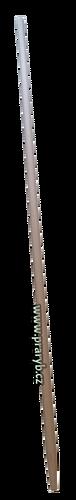 Násada na keser délka 240 cm - s kuželovou tulejí, průměr 40 mm, soustružená