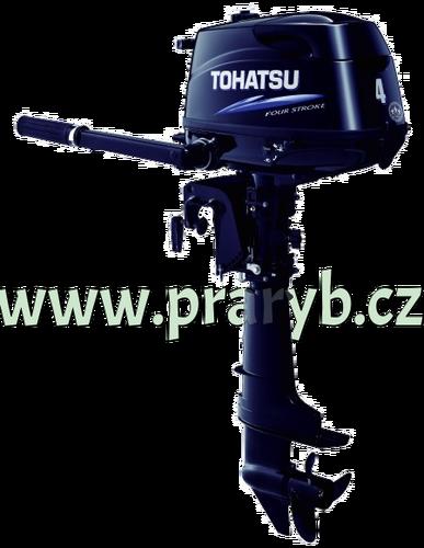 Motor lodní závěsný spalovací TOHATSU MFS4D L, čtyřtakt., 2,9kW s dlouhou nohou