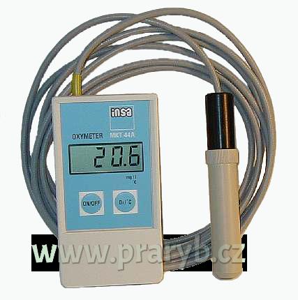 Měřič kyslíku a teploty ve vodě MKT 44A - na čidlo záruka 6 měsíců