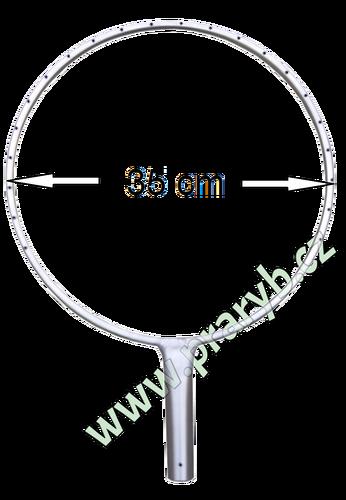 Oblouk na keser nerez průměr 35 cm s rovnou tulejí - vnitřní průměr 28 mm