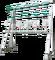 Stojan nerezový na 6 zugských láhví s rozvody (bez láhví) - výškově stavitelné nohy