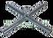 Čeřenový kříž ke konstrukci hospodářského čeřenu 4 x 4 m pozinkovaný - náhradní díl