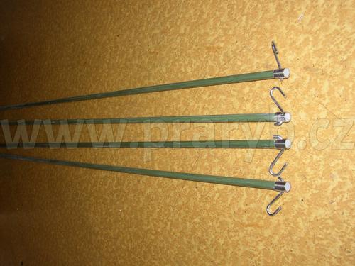 Tyč kompletní ke konstrukci čeřenu 4 x 4 m laminátová s kováním - náhradní díl - délka 3,3 m, průměr 14 mm