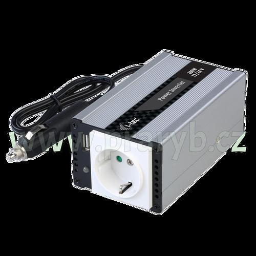 Měnič napětí 12V/230V 200W + USB