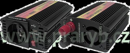Měnič napětí 24V/230V 300W + USB