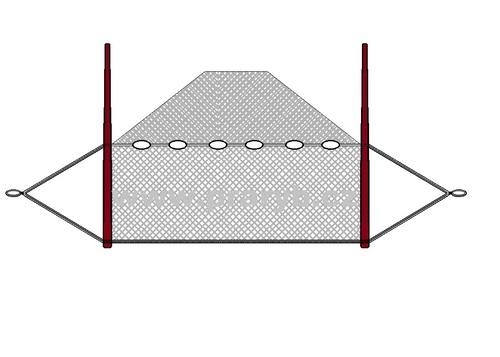 Vatka oka 25 mm / 3 x 18 m (obvod jádra 6 m) uzlovaná