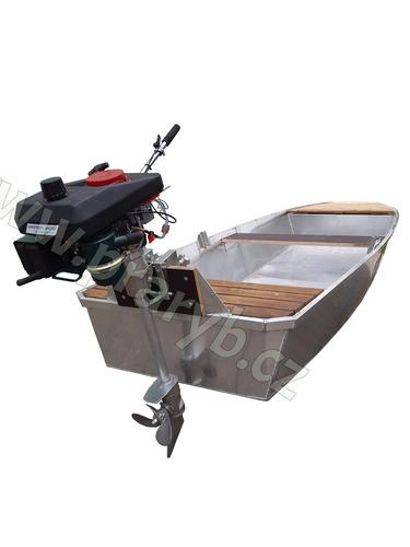 Motor lodní s oddělitelnou hnací jednotkou a se vzduchem chlazeným motorem