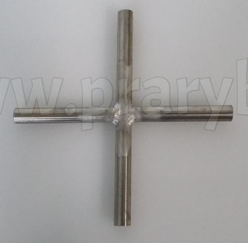 Průchodka čtyřsměrná nerezová 8 mm na rozvod kyslíku (vzduchu), vývod 4 x 8 mm