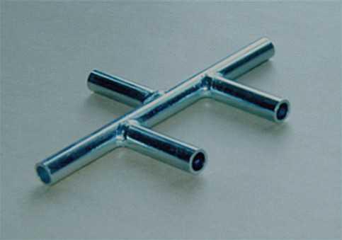 Průchodka pětisměrná nerezová 8 mm na rozvod kyslíku (vzduchu), vývod 5 x 8 mm