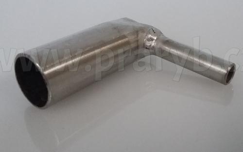 Průchodka (redukce 18/8mm) kolmá na prokysličování nerezová