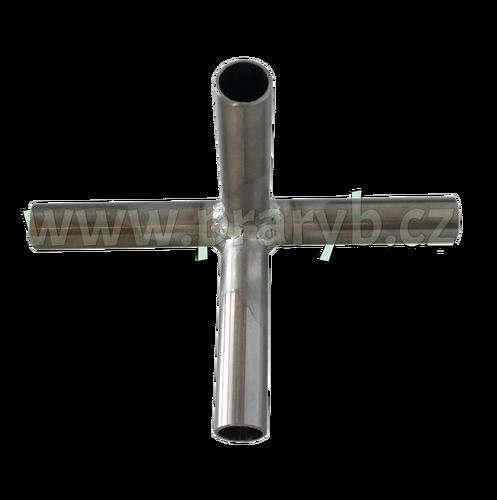 Průchodka T na provzdušňovací hadici nerezová (vývod 4 x 12 mm)