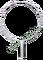 Oblouk na keser nerez průměr 43 cm s rovnou tulejí - vnitřní průměr tuleje 28 mm