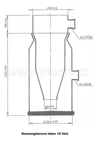 Láhev kenengiterova 15 litrů skleněná (Kannengieterova láhev)