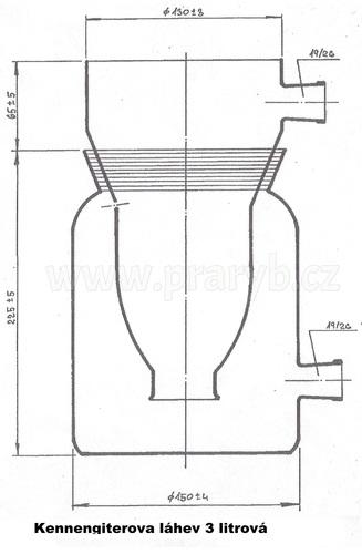 Láhev kenengiterova 3 litry skleněná (Kannengieterova láhev)