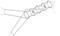 Vězenec síťový průměr 0,75 m délka 4 m oka 10 mm s 1 křídlem dl. 3 m