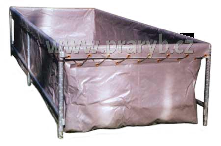 Bazén plachtový (nádrž) 2 x 1,5 x 0,9 m s pozinkovanou konstrukcí, objem cca 2.700 litrů