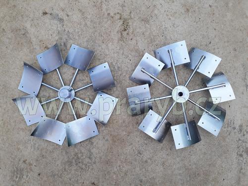 Nosič lopatek (střed) větrného kola k rozmrazovači PAULÁT - náhradní díl - 8 ramen