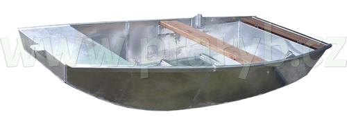 Loď hliníková 3 m jednošpicá s lavičkou a držáky vesel