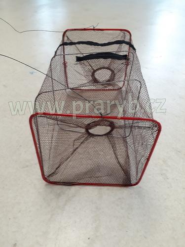 Vrš (vězenec) se skládací konstrukcí 25 x 25 x 45 cm, oka 4 mm