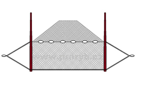 Vatka oka 10 mm / 1 x 2,5 m (obvod jádra 2 m)