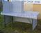 Stůl na prodej živých ryb velký, laminátová deska se zástěnou a pozink. konstrukcí stolu