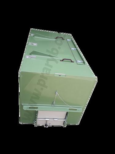 Bedna přepravní plastová PP 2,1(2) x 1 x 1 m s vyjímatelnou přepážkou a prokyslič.rámem - na přepravu živých ryb