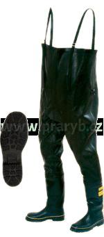 Boty kalhotové černé gumové zateplené velikost č. 48 a výš - NOVESTA - (prsačky, brodící kalhoty)