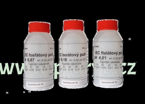 Pufry ke kalibraci pH MFD 79 - Pufr: pH 4,1, pH 6,87, pH 9,18