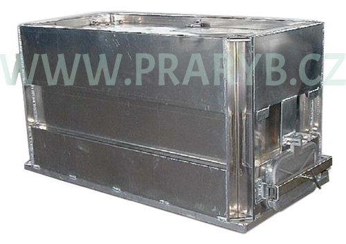 Bedna přepravní hliníková prolisovaná 2,14(2) x 1 x 1 m s prokyslič.rámem, objem 2 m3 - na přepravu živých ryb