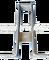 Držák 1 průtokoměru na kyslík s krytem nerez