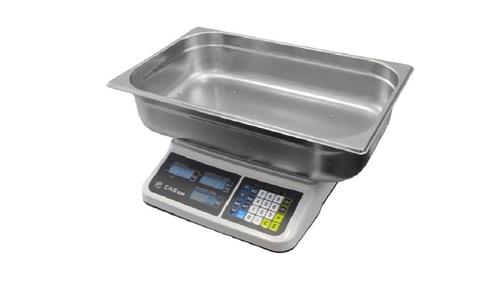 Váha plošinová CAS PR2 do 6/15kg s mísou na ryby, obchodní, bateriová/na síť