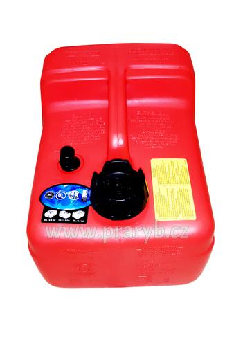 Nádrž palivová 12 litrů k lodnímu motoru.