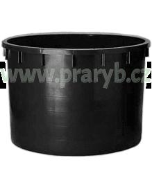 Káď plastová PE 600 litrů černá průměr 120 cm, výška 68 cm