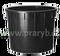 Káď plastová PE 750 litrů černá průměr 122 cm, výška 82 cm
