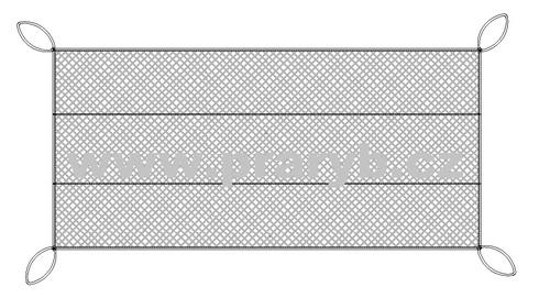 Síť podložní oka 20 mm / šířka 30 m Uzlovaná, šňůrk pr. 1,4 mm