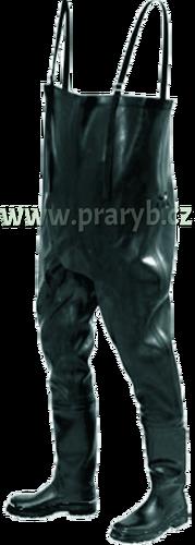 Boty kalhotové černé gumové zateplené NOVESTA - prsačky, brodící kalhoty