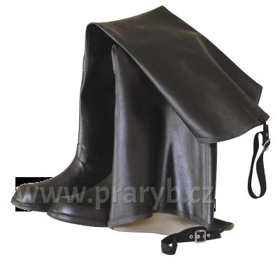 Boty lovecké gumové zateplené černé (prdelačky) NOVESTA do třísel
