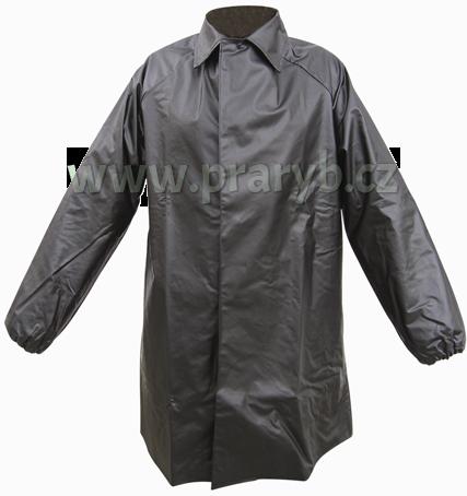 Kabát rybářský lovecký LOVEČKA se zvýšeným límcem přezky+druky gumotextilní  černý 0fde8d07b5