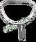 Půloblouk na keser nerez s odnímatelnou tulejí, dolní hrana 49 cm, výška 39 cm - rovná tulej s vnitřním průměrem 28 mm