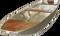 Loď hliníková 4 m jednošpicá s lavičkou, držáky vesel a držákem motoru
