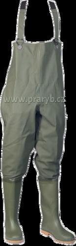 Boty kalhotové zelené silnější velikost č. 47 a výš DUNLOP/Elka (prsačky, brodící kalhoty)